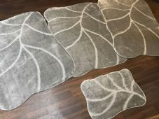 ROMANY GYPSY WASHABLES NEW DESIGNS SET OF 4PCS GREY MATS X LARGE SIZE 100X140CM